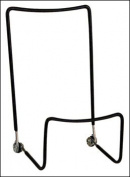 Black - 2 Wire Highback Easel with lip - 13cm - 1.9cm H x 7.6cm - 0.6cm W - 2 pack