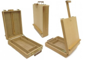 Desktop Artist Easel - Wooden Portable Compact Stand - Student Drawing Painting
