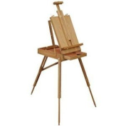French Artist Easel - Wooden Portable Folding Tripod Type - Storage Shelf - NEW
