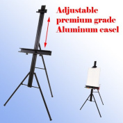 Aluminium Adjustable Large 170cm Easel Drawing Canvas Poster Picture Frame Holderdisplay Tripod Black Menu Poster Picture Holder Stand or Table Folding Light Weight Easel w/ Free Carry Case