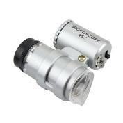 Generic 45X Microscope Endoscope Pocket Magnifier Magnifying Loupe 2 LED Illumination