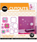 Hip In a Hurry 3D Decor Cut Outs 33cm -Flower #2