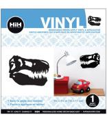 Hip In A Hurry Vinyl 11cm Minis-Black Dinosaur Head
