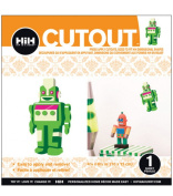 Hip In a Hurry 3D Decor Cut Outs 11cm Minis-Green Robot