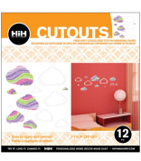 Hip In a Hurry 3D Decor Cut Outs 29cm -Clouds