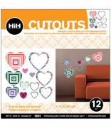 Hip In a Hurry 3D Decor Cut Outs 33cm -Pop Heart