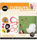 Hip In a Hurry 3D Decor Cut Outs 33cm -Rock Star