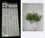 """Hip in a Hurry Peel N Stick Grey Wall Word Decals """"Faith"""""""