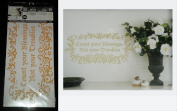 """Hip in a Hurry Peel-n-Stick Gold Wall Words & Graphics - """"Count Your Blessings Not Your Troubles"""""""