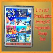 A3 LED Crystal Frame Light Box LED Programmable Scrolling Message Lightbox Display Panel