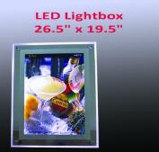 A2 Size LED Slim Crystal Frame Light Box 70cm x 50cm Advestising Poster Display Backlit Signage Photo Display