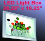 A2 LED Slim Aluminium Frame Light Box 70cm x 50cm Advestising Poster Display Poster Lightbox