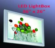 A1 Size LED Slim Aluminium Frame Light Box 90cm x 70cm Advestising Poster Display Poster Lightbox