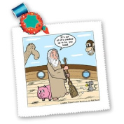 Rich Diesslins Religion Heaven Hell Cartoons - Not Much Glamour In Running Noah s Ark - Quilt Squares