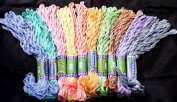 New Threadsrus 100 Skeins of Silk Rayon threads for Hand Embroidery/Cross Stitch - Baby Pastel Colours