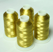 NEW ThreadNanny 4 ANTIQUE GOLD METALLIC MACHINE EMBROIDERY THREAD CONES