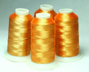 NEW ThreadNanny 4 CHRISTMAS GOLD METALLIC MACHINE EMBROIDERY THREAD CONES
