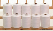 New THREADNANNY HEAVY DUTY XTRA STRONG WHITE 3-PLY Polyester Sewing thread QUILTING SERGER