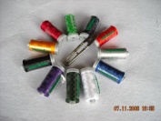 Rayon Embroidery & Sewing Thread 12 Spool (1,100 Yards Ea)40 Wt Set