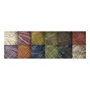 J.Patton Hand-Overdyed Perle Cotton Thread Balls Size 5 Designer Set, 12/Pkg