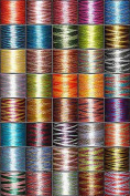 40-cone Variegated (Multicoloured) Polyester Embroidery Thread Kit - 40 colours - 1100 yards - 40wt