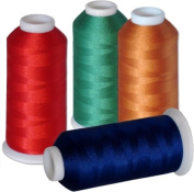 60-cone Commercial Polyester Embroidery Thread Kit - 60 colours - 5500 yards - 40wt