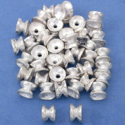 15g Hourglass Beads Silver Plt Beading 4.5mm Approx 45