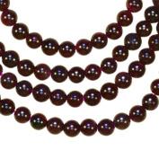 "Garnet 4mm Round Bead Natural Genuine Strand Deep Red 15.5"""