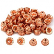 Star Bali End Bead Caps Copper Plated 9.5mm Approx 50