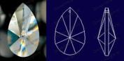 38mm Teardrop Crystal Prisms #873-38 Set of 10 pcs