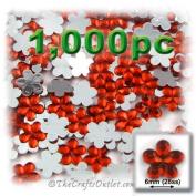 1000pc Rhinestones Mini Flower 6mm flatback Ruby Red RED