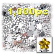 1000pc Rhinestones Mini Flower 6mm flatback Crystal Clear CLR
