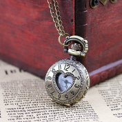 Vintage Heart Alloy Pocket Watch