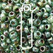 Picasso Olivine Trans 20 Grammes Miyuki Round Rocailles 6/0 Glass Seed Bead Approx 20 Gramme Tube