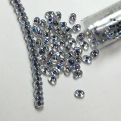 """Noir Lined Crystal Ab New Miyuki Berry Bead 2.5x4.5mm Seed Bead Glass 22 Gramme Tube Approx 500 Beads Bb283"""" """""""