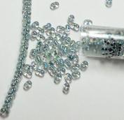 "Seafoam Lined Crystal Ab Rainbow New Miyuki Berry Bead 2.5x4.5mm Seed Bead Glass 22 Gramme Tube Approx 500 Beads Bb1"" """