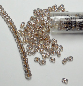"""Sparkle Beige Lined Crystal New Miyuki Berry Bead 2.5x4.5mm Seed Bead Glass 22 Gramme Tube Approx 500 Beads Bb283"""" """""""