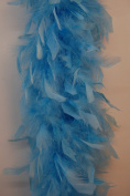 80 Gramme Chandelle Feather Boa - SKY BLUE 2 Yards