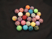 Disco Ball Beads (smaller) - assorted lot of 10