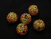 Rainbow Disco Ball Beads - assorted lot of 10