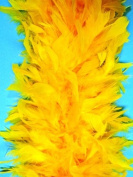80 Gramme Chandelle Feather Boa - GOLD 2 Yards