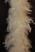 80 Gramme Chandelle Feather Boa - IVORY 2 Yards