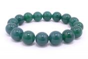 12mm Beautiful Crude Jade Beads Bracelet Bangle