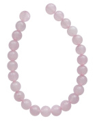 Tennessee Crafts 1377 Semi Precious Pink Rose Quartz Beads, Round, 8mm