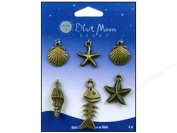 Blue Moon Beads Lost & Found Charms Metal Shell Assortment Ox Gold