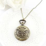 . Fashion Large Sized Owl Vintage Pendant Watch