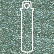 Galvanised Grey Green Dyed (Db416) Delica Myiuki 11/0 Seed Bead 7.2 Gramme Tube Approx 1400 Beads