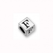 Charm Factory Pewter 7mm Alphabet Letter F Bead