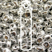 Full Labrador (Silver) 2.5x5mm 1 ONE Hole Fringe Beads Czech Glass Seed Beads 20 Gramme Tube