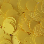 20mm Round SEQUIN PAILLETTES ~ YELLOW Opaque ~ Loose sequins for embroidery, bridal, applique, arts, crafts, and embellishment. Made in USA.